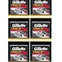 Gillette Trac II плюс заправка лезвия 10 ct. (Упаковка из 6)