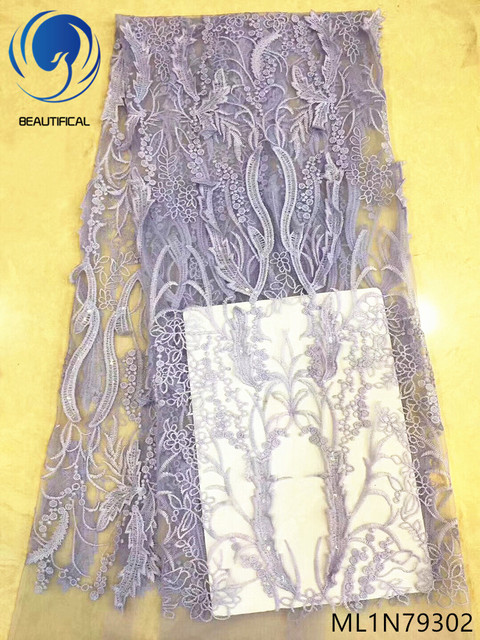 Beautifical party lace fabric wholesale african lace fabric for wedding nigerian lace fabrics african latest design ML1N793