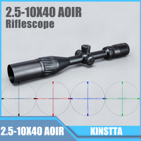 Tactical 2 5 10X40 AOIR Red Green Blue Color Reticle Optics Riflescope Illumination Rifle Scope For