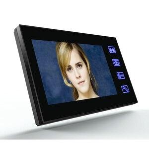 """Image 3 - タッチキー7 """"lcd rfidパスワードビデオドア電話インターホンシステムwth irカメラ1000 tvラインリモートアクセス制御システム"""