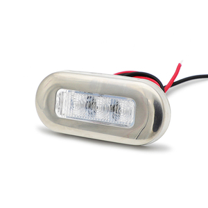 Image 2 - 1Pair Marine Stainless Steel LED Navigation Lights 12V Boat Signal Warning Lamp Red/Yellow/Green/Blue/White