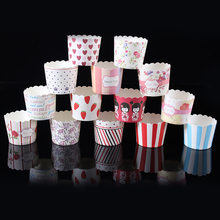 Hot 50pcs / Bag Multicolor Cupcake Baking Cup Styling Cooking Tool Muffin Cake Cup Kitchen Cake Tools(China)
