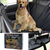New Oxford Fabric Car Seat Cover Waterproof Pet Car Seat Cover Dog Cat Puppy Seat Mat Blanket Black D25