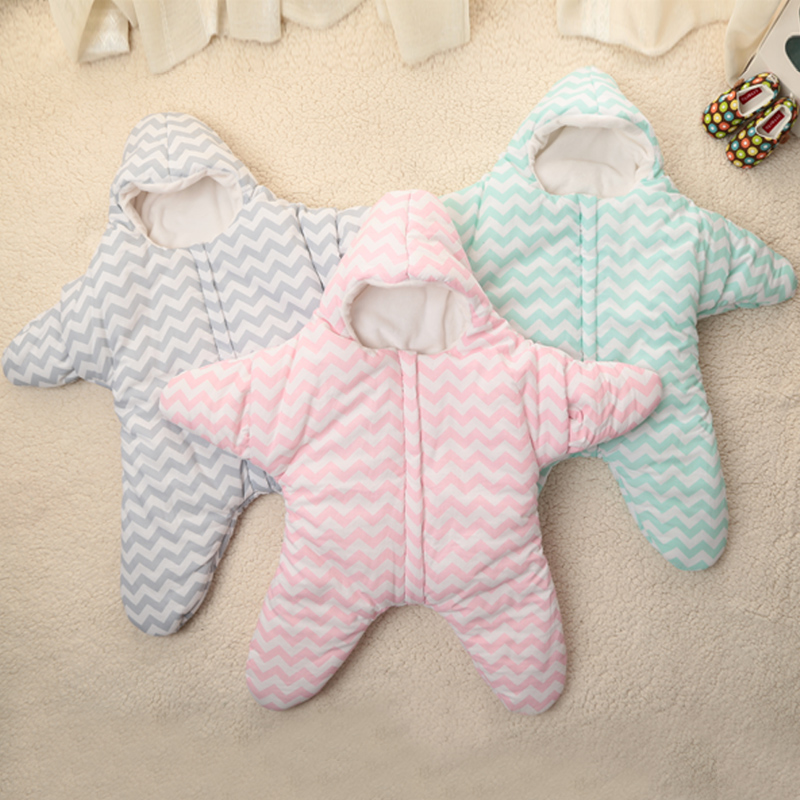 Baby Stroller Winter Star Sleep Sack Newborn Cartoon Stripped Sleeping Bag Swaddle Blanket Wrap Cute Bedding In Sleepsacks From Mother Kids