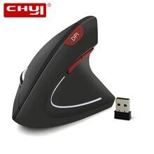 CHYI беспроводная Вертикальная мышка эргономичная компьютерная игровая мышь 800/1200/1600 dpi USB оптическая мышь геймер с коврик для мыши для ноутбука