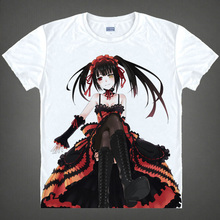 DATE A LIVE T shirts kawaii Japanese Anime tshirts Manga Shirts Cute Cartoon Kurumi Tokisaki Cosplay