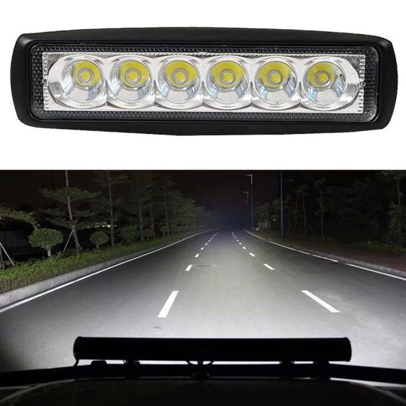 New Arrival 18W Flood LED Light High Power Working Bar Lamp Driving Fog Offroad SUV Modified 4WD Durable Car Truck Headlights
