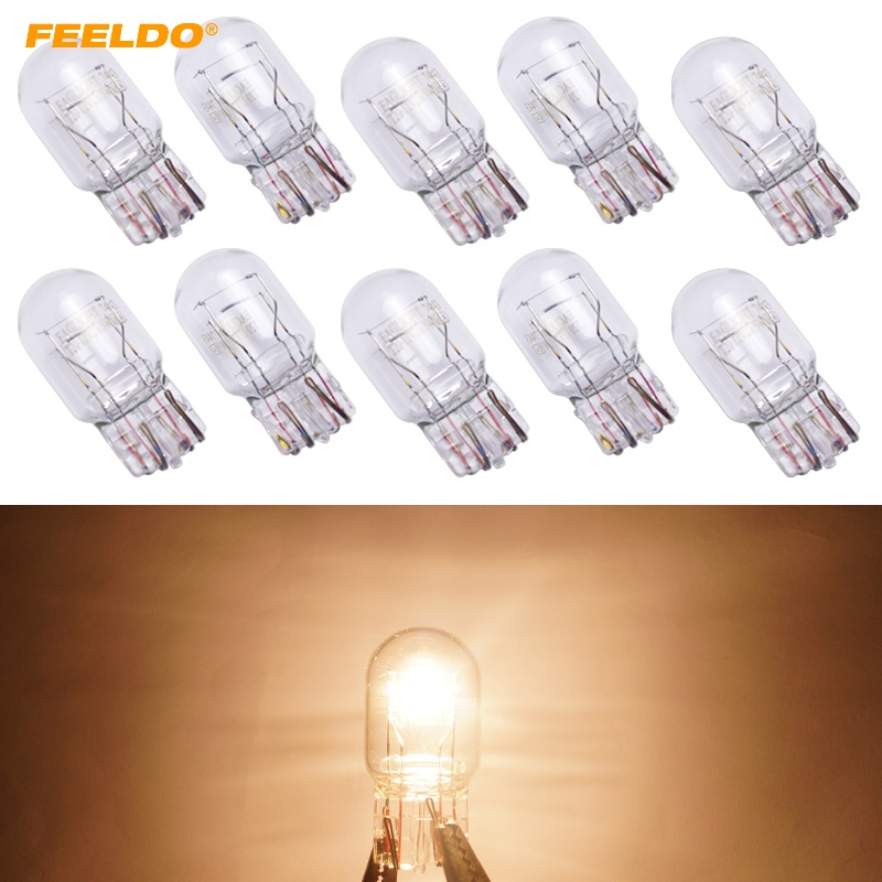 FEELDO 40Pcs Car T20 7443 1881 W21W 12V Wedges bulb External Halogen Lamp AM5220