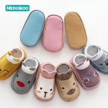 Medoboo Cartoon Baby Socks Rubber Soles Anti-slip Cotton Baby Floor Socks Soft Learning Walk Newborn Shoes Socks 20 недорого