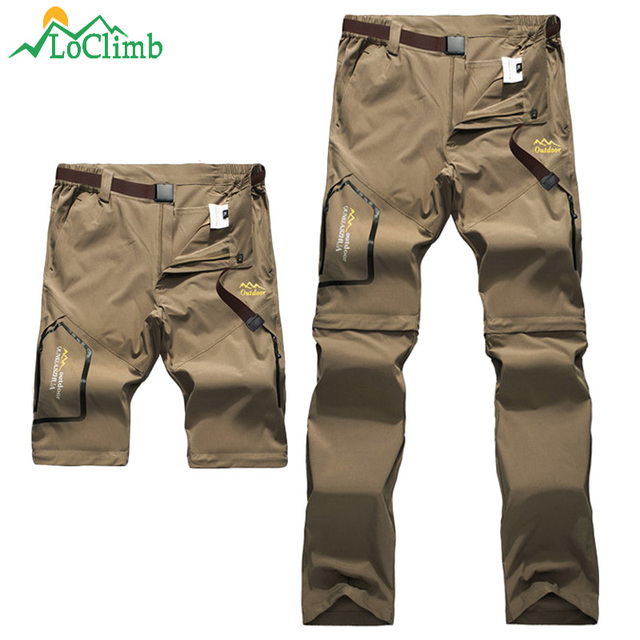 LoClimb Men Women Stretch Waterproof Camping Hiking Pants Outdoor Sport Trousers Trekking Mountain Climbing Fishing Pants,AM051 3
