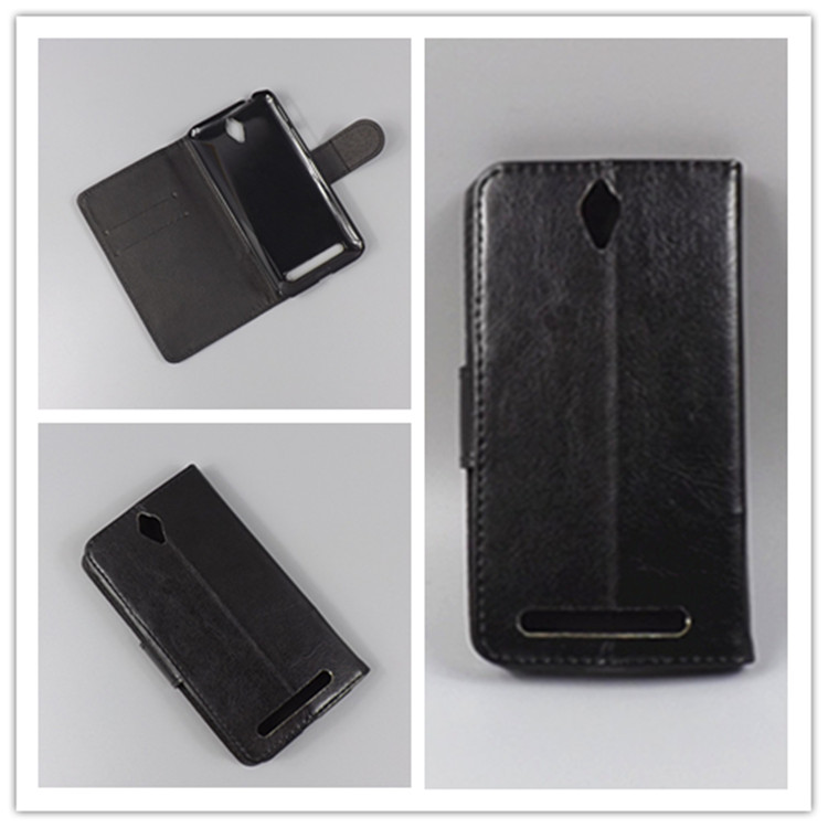 Crystal grain wallet case hold two Cards with 2 Card Holder and pouch slot for ASUS ZenFone C ZC451CG ZC 451 CG Z007 4.5 inch
