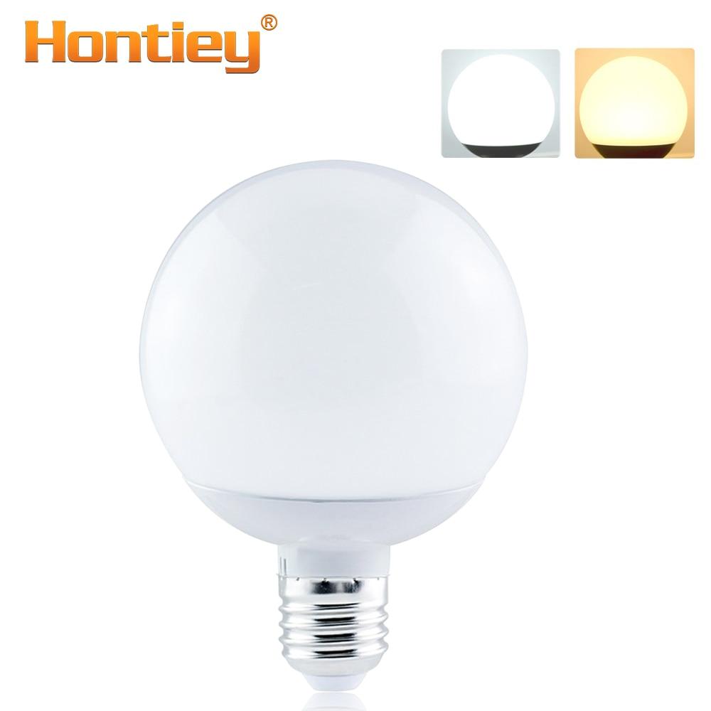 Hontiey E27 LED Bulbs AC 220V 7W 9W 12W 15W 360°Round Lamp Spotlight Table Lighting Bead High Brightness Warm White
