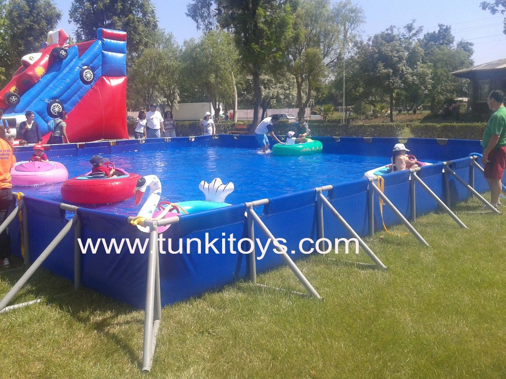 Steel Frame Swimming Pool/outdoor easily assembled metal swimming ...