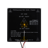 MK3 Heatbed Dual Power 12v 24v PCB Black Heated Bed 214 214 3mm 3D Printer Parts