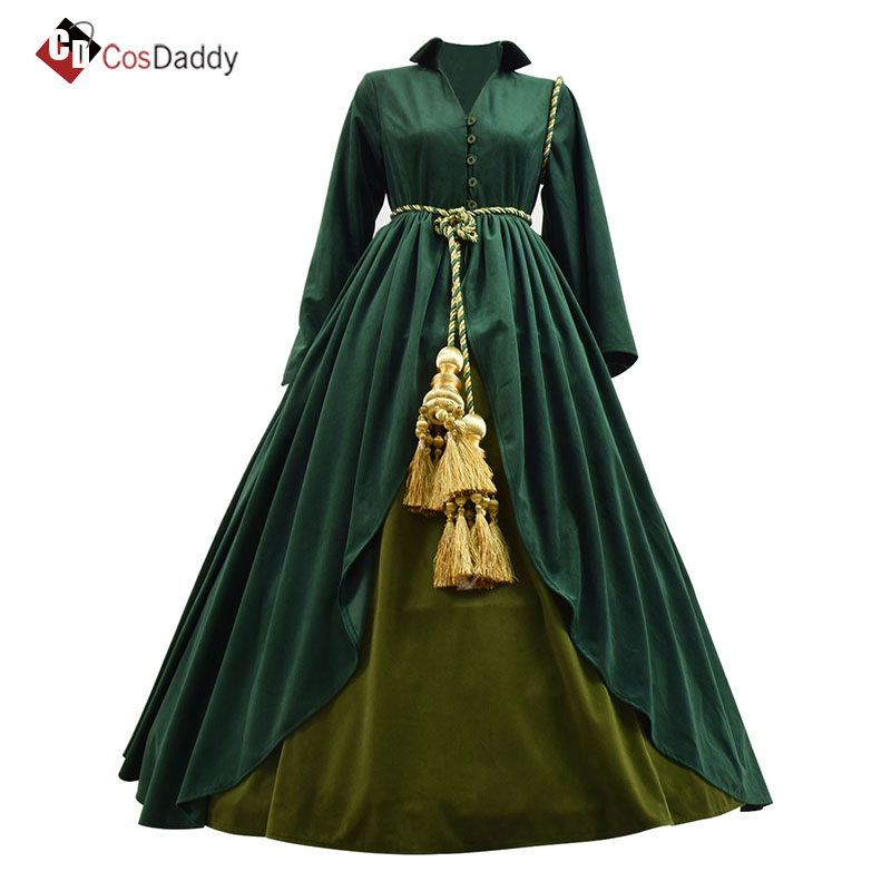 Gone with the Wind Cosplay costume women  Scarlett O'Hara Dresses  brand CosDaddy