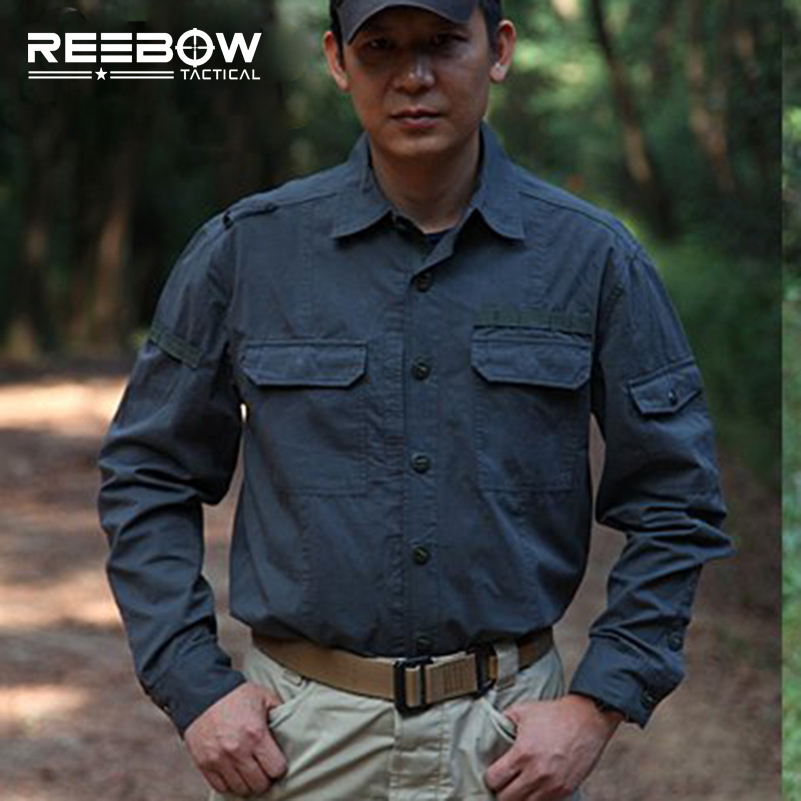 Men Military Tactical Outdoor Shirts 100% Cotton Breathable Long Sleeve Shirt Army Multi-pockets SWAT Shooting Urban Sports