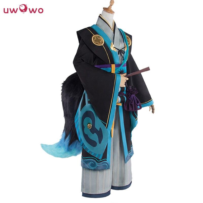 Fox Demon Cosplay Game Kitsune Onmyoji Unawakened Black Blue Costume Without Tail Onmyoji Fox Demon Cosplay Men
