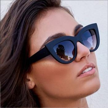 Gafas de sol LongKeeper con diseño de ojo de gato, gafas de sol de marca de lujo Retro con cristales de espejo para mujer, gafas de colores UV400, gafas de estilo atractivo