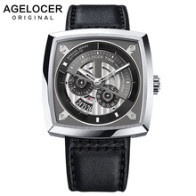 2019 New Swiss Brand AGELOCER Big Sport Watch Men Luminous A