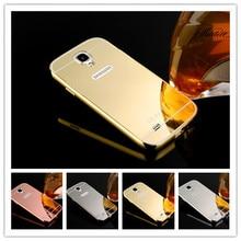 Для Samsung S4 Case Luxury Ультра тонкий Алюминиевый Металл + зеркало Батареи Задняя Крышка Телефона Чехол для Samsung Galaxy S4 i9500