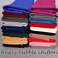 Alta calidad pesada burbuja gasa llanura gran burbuja gruesa chales hijab malasia populares 20 color de invierno bufandas/bufanda 180*75 cm