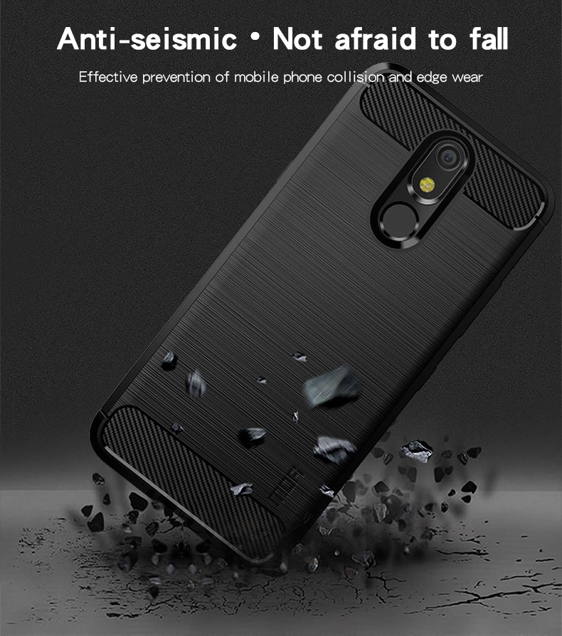 MOFi For LG K40 K12 PLUS Case Shockproof Carbon Fiber Soft TPU Anti Knock Cover Cases For LG K40 Capa Coque in Fitted Cases from Cellphones Telecommunications