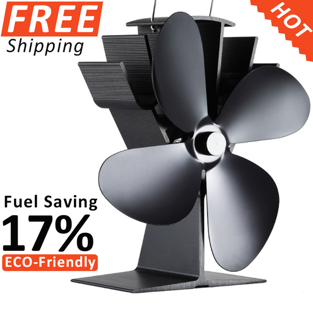 Beste 2 STKS Warmte Aangedreven Kachel Ventilator Eco Kachel Fan + 1 ST SH-55