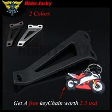 Для Kawasaki ZX6R ZX 6R ZX-6R 1998-2006 1999 2000 2001 2002 2003 2004 2005 черный и хром Мотоцикл выхлопной подвесной кронштейн