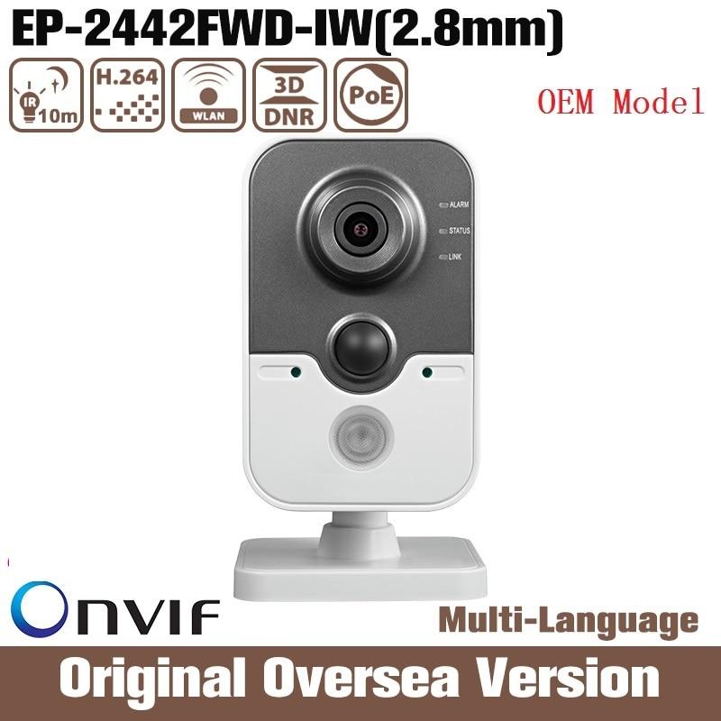 HIK Oem DS 2CD2442FWD IW 2 8mm 4mp Ip Camera HIK Poe Cctv Security Infrared Night