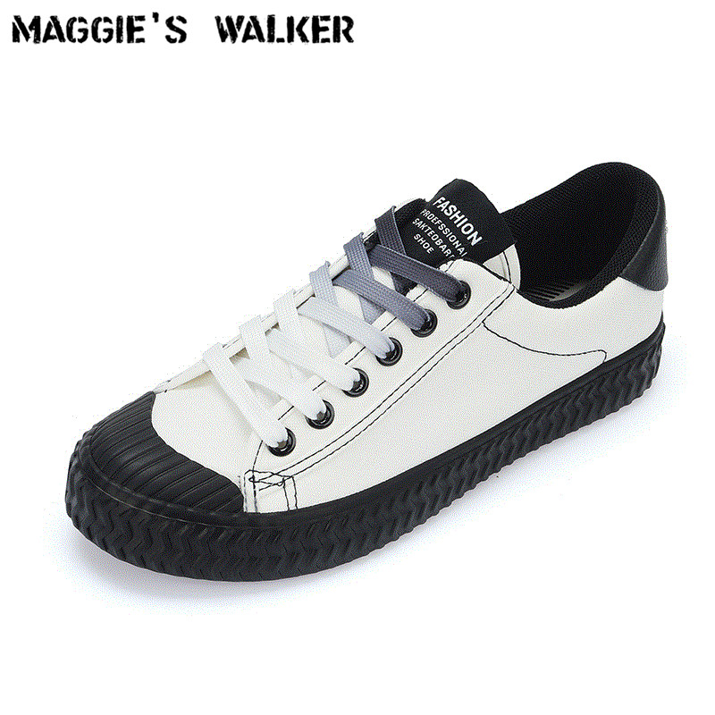 Maggie's Walker 2018 New Arrival Women Fashion Lacing Canvas Casual Shoes Platform lace-up Walking Shoes White/Black Size 35~40 2017 free shipping new arrival traditional tavas women colors casual shoes breathable max size 36 42 black white superstar