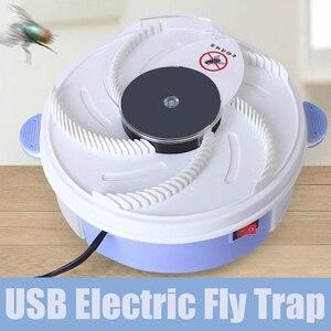 Image 3 - Girar armadilhas de insetos voar armadilha elétrica usb automático voar coletor armadilha controle rejeição pragas coletor mosquito voando anti assassino