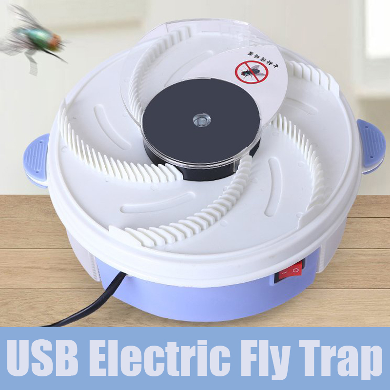 Image 3 - Rotate Insect Traps Fly Trap Electric USB Automatic Fly Catcher Trap Pest Reject Control Catcher Mosquito Flying Anti Killer-in Traps from Home & Garden