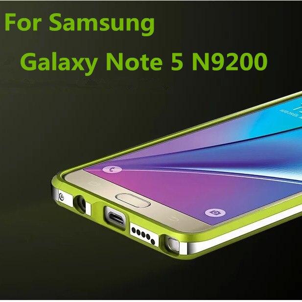 imágenes para TX Para El caso de Samsung Note5 de Lujo Marco De Aluminio de Aleación de Parachoques Para Samsung Galaxy Note 5 N9200 cáscara Dropproof
