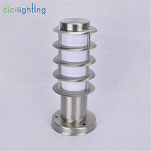 Light Stainless-Steel Outdoor White Waterproof E27 Ac Post-Lamp Shade Path Acrylic L30cm