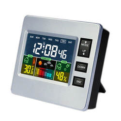 Bakeey Loskii DC-07 умный дом цифровой Температура гигрометр сигнализация прогноз погоды тенденции календарь Функция умные часы
