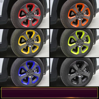 For Jeep Compass 2017 ABS Chrome 5PCS Car Wheels Exterior Color Wheel Stickers Border Cover Trims Car Styling Auto Accessories