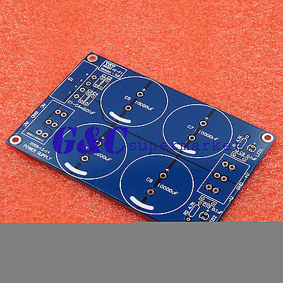 4*10000uF/50V Rectifier Filter Power Supply Board (For LM3886TF TDA7293) PCB