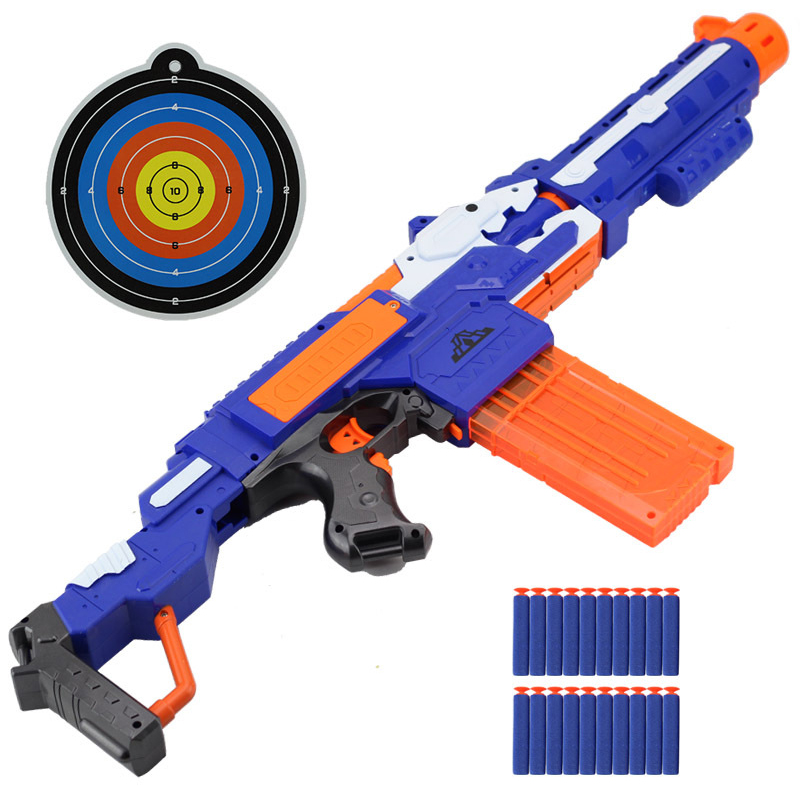 Fun Soft Bullet Gun Toy Kids Electrical Bursts Of Nerfed Gun Toy Shooting Submachine Weapon Pistol Sniper Rifle Children Gift