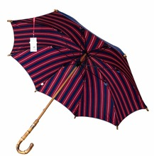 2pc/lot Straight pure nature rattan bamboo handmade wooden umbrellas 210T pongee double layers anti-thunder fiberglass parasol