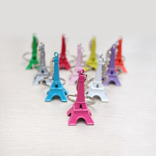 Original Colorful Vintage Eiffel Tower Keychain For Women / Tower pendant key ring gifts Fashion  8 colors Romantic Gift For Men stylish eiffel tower pendant necklace for women