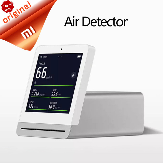 Xiaomi Mijia Clear Grass Air Detector 3.1''IPS Touch Screen Comprehensive Monitor PM2.5 APP Control Indoor Outdoor Air Detector