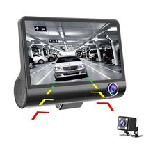 4'' 1080P 170° 3 Lens Car DVR Dash Cam Vehicle Video Recorder with Rearview Camera  Night Vision G-Sensor Dash Cam original philips cvr 108 car dvr camera 130 degree driving video recorder dash camera 1080p with g sensor wdr night vision