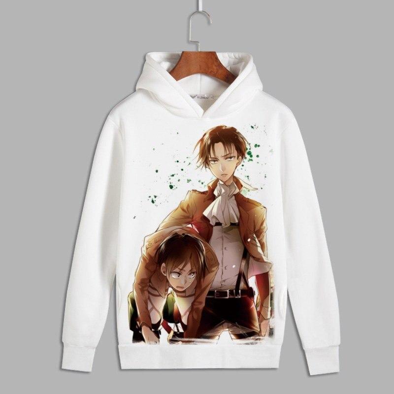 Attack on Titan Cosplay Eren Print Pullover Hoodie Sweatshirts Survey Corps Unisex Fleece Hoody for Autumn