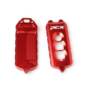 Image 4 - For Honda PCX 125 PCX150 2016 2017 2018  keys cap decoration Motorcycle Modification  Aluminum alloy key Protective cover
