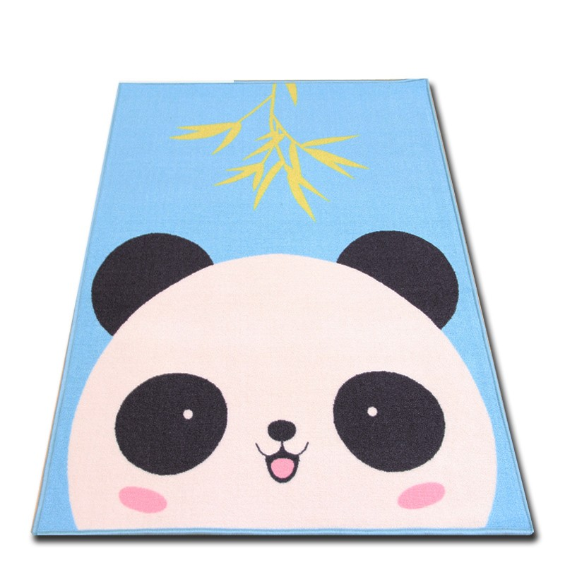 100*130CM Rug Cartoon Animal Panda Face Quilted Rectangle Play Mats Baby Developing Blankets Crawling Rug Carpet For Kids Room100*130CM Rug Cartoon Animal Panda Face Quilted Rectangle Play Mats Baby Developing Blankets Crawling Rug Carpet For Kids Room