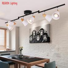 Buy track lighting wood and get free shipping on aliexpress regron nordic ceiling lights modern minimalism led track ceiling lamp srt deco ceiling lamp for corridor aloadofball Choice Image