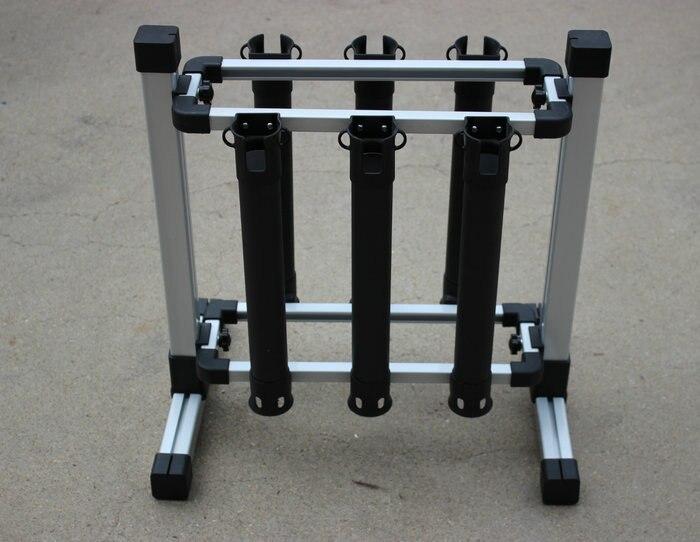 Alliage d'aluminium canne à Pêche pole support affichage en rack porte-canne prend en charge 6 pièces cannes à Pêche
