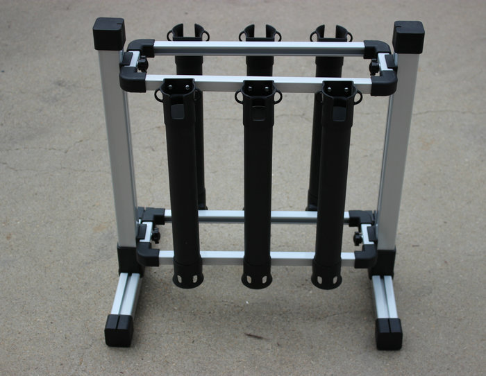 цены  Aluminum Alloy Fishing rod pole support Stand display placing rack rod holder supports 6pcs Fishing rods