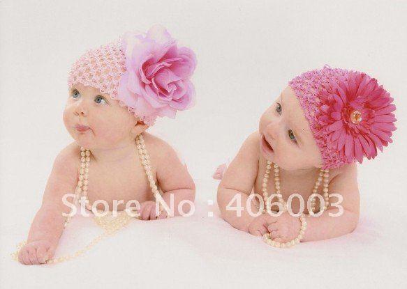 24 шт./партия, вафельная вязка, шапочка для новорожденного малыша