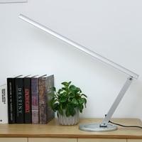 Table Lamp Modern Long Arm Flexible Led Desk Lamps T5 Tube Eye protected Light for Bedroom silver Nail Art Equipmen US/EU Plug